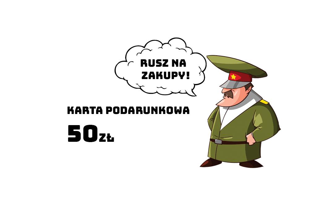 Karta Podarunkowa o wartości 50zł
